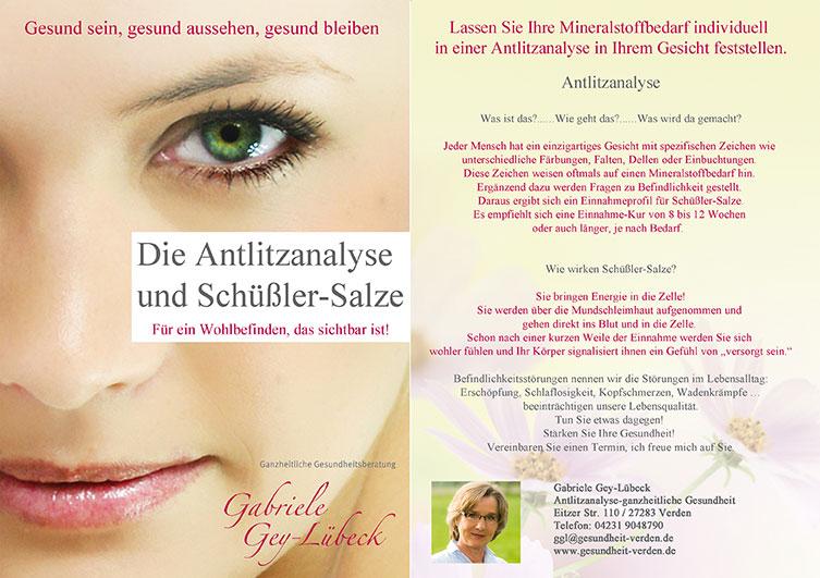 Flyer und Broschüre für Gesundheitsberaterin