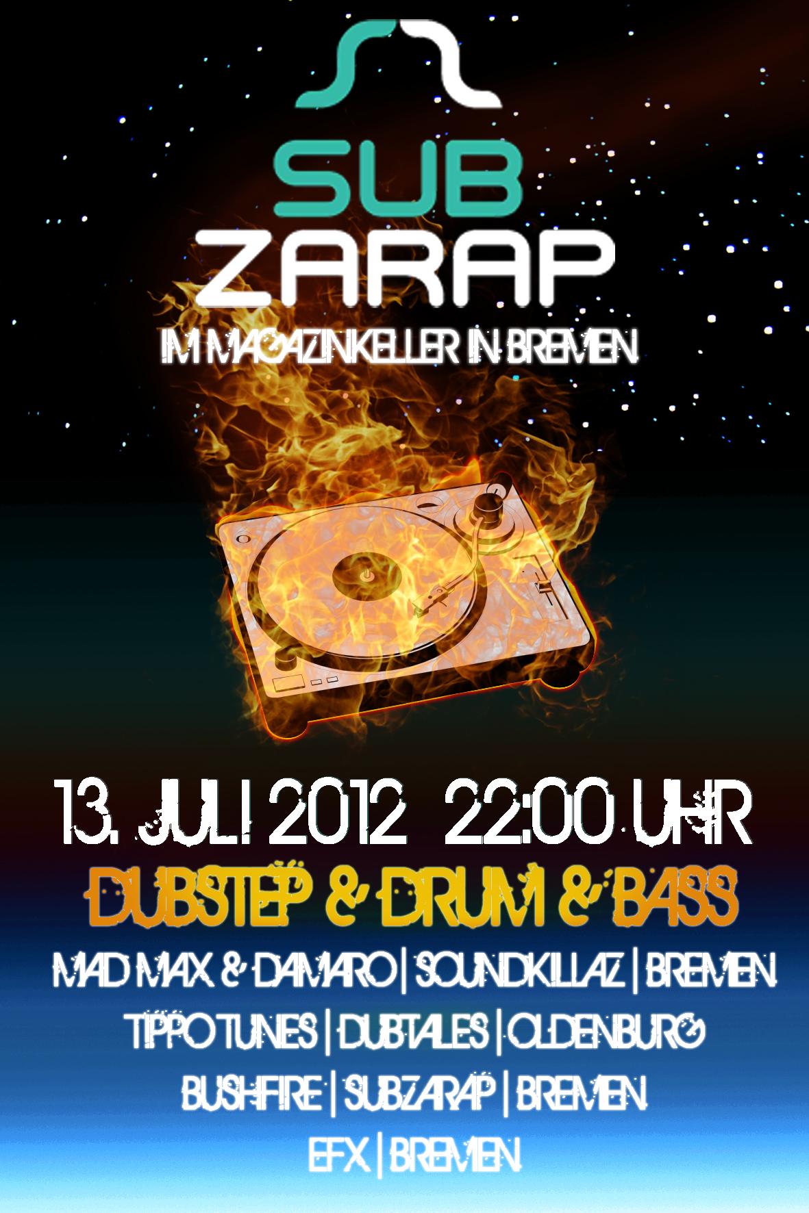 Flyer für SUB ZARAP